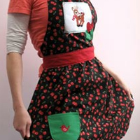 Retro Holiday Apron_image