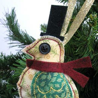 Dapper Bird Ornament_image