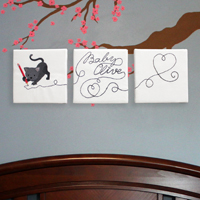 Doodle Stitch Wall Hanging_image