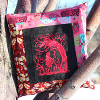 Log Cabin Fairytale Pillow_image