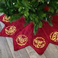 Embroidered Tree Skirt_image
