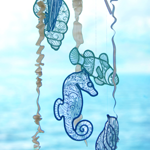 Freestanding Organza Sea Glass_image