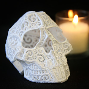 3D Lace Skull_image