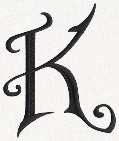 Fantasy Letter K - Uppercase | Urban Threads: Unique and Awesome ... Awesome Letter K