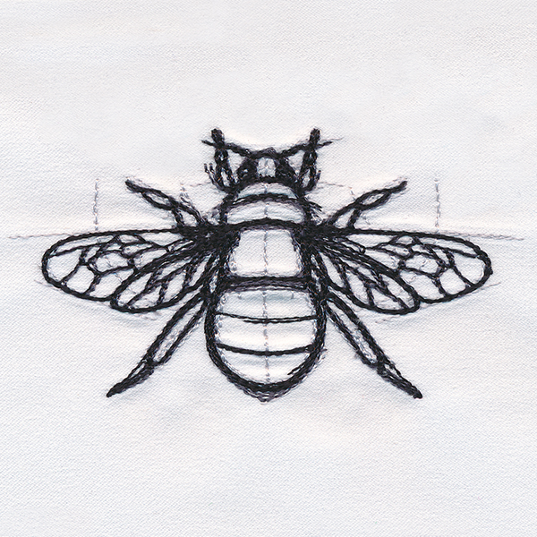 Sketchwork bee urban threads unique and awesome