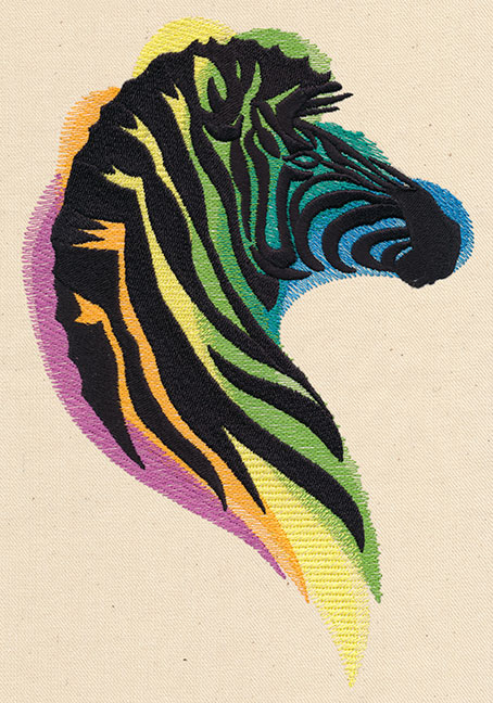 Rainbow zebra urban threads unique and awesome