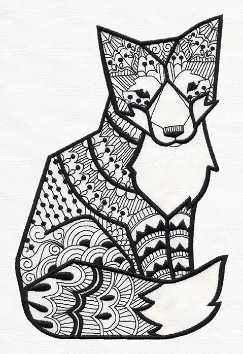 Doodle Fox Urban Threads Unique And Awesome Embroidery