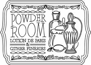 powder room sign | urban threads: unique and awesome