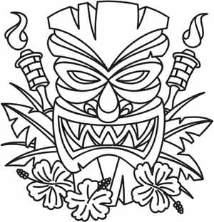 tiki man coloring pages - photo#12