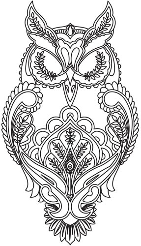 tattoo owl coloring pages - photo#4
