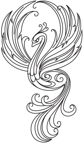 fire bird coloring pages - photo#17