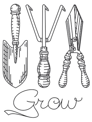 Garden tools drawing for Gardening tools drawing