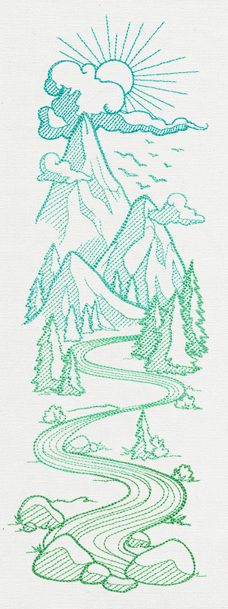 Mountain Valley Sleeve | Urban Threads Unique And Awesome Embroidery Designs