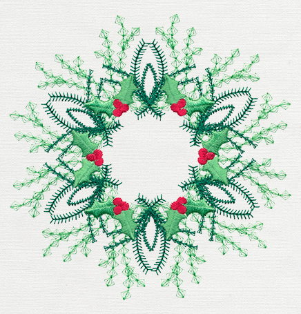 Vintage Christmas Wreath Urban Threads Unique And