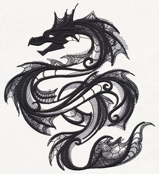 Dark creatures sea serpent urban threads unique and for Sea dragon tattoo