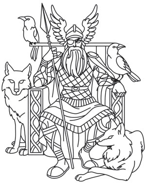 Norse mythology free colouring pages for Norse mythology coloring pages