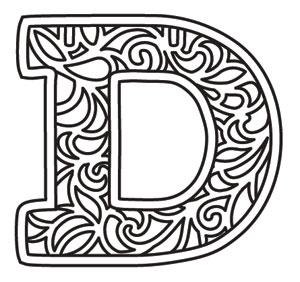 bunting letter d urban threads unique and awesome embroidery designs. Black Bedroom Furniture Sets. Home Design Ideas