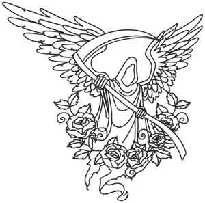 black death coloring pages | Angel of Death | Urban Threads: Unique and Awesome ...