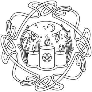 candlemas coloring pages | Wheel of the Year (Design Pack) | Urban Threads: Unique ...