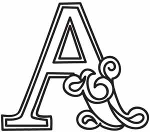 A Alphabet Design ... PDF. Use pattern transfer paper to trace design for hand-stitching