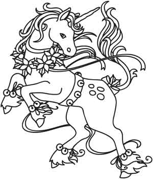 christmas magic unicorn urban threads unique and awesome embroidery designs Disney Christmas Coloring Pages  Christmas Unicorn Coloring Pages