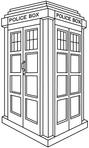 Dr who tardis free colouring pages for Tardis coloring pages