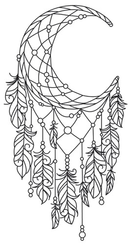 dream catcher tattoo template - moonlight dreamcatcher urban threads unique and awesome