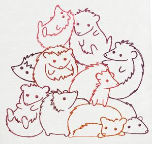 Pile o' Cute - Hedgehog Pile_image