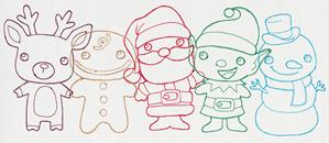 Christmas Friends Border_image