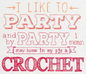 I Like to Party - Crochet_image