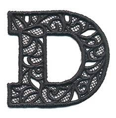 Bunting Letter D (Lace)_image