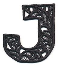 Bunting Letter J (Lace)_image