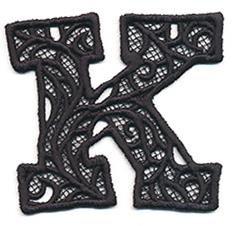Bunting Letter K (Lace)_image