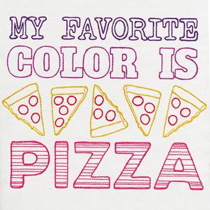 Fresh Tees - My Favorite Color Is Pizza_image