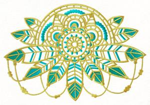 Bohemian Gold - Feathers Medallion_image
