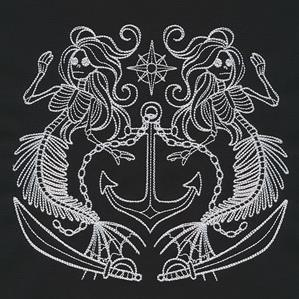 Mermaid Skeleton Crest_image