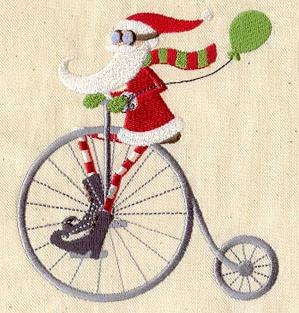 Cycling Santa_image
