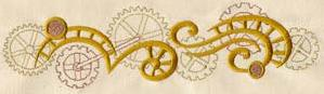 Clockwork Magic - Cogs Border_image