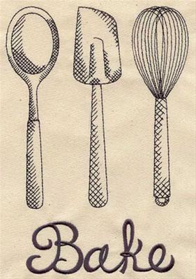 kitchen embroidery designs. Bake image Cooking And Baking  Urban Threads Unique and Awesome Embroidery