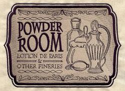 Powder Room Sign_image
