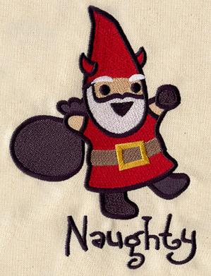 Too Cute Christmas Gnome - Naughty_image