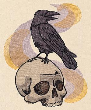 Painted Skull and Raven_image