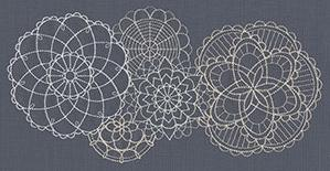 Delicate Medallions Border_image