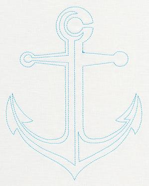 Salt Water - Quilting Anchor (Single Run)_image