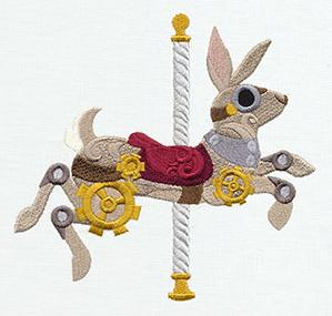 Steampunk Carousel - Bunny_image