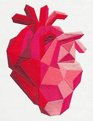 Faceted Anatomical Heart_image