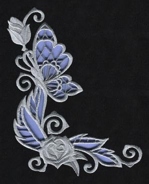Rose & Bone - Corner (Cutwork)_image