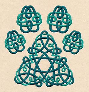 Celtic Knotwork Pawprint_image