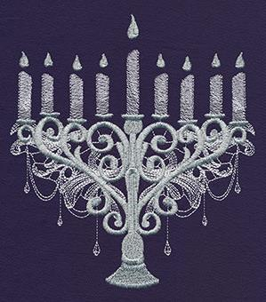 Bejeweled Menorah_image