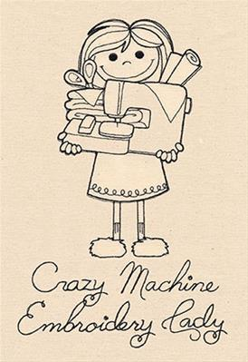 Crazy Machine Embroidery Lady_image